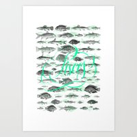 pisces Art Prints featuring Pisces by Srg44