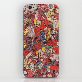 Spiderman comic book collage iPhone Skin