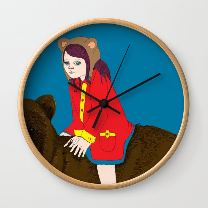 Bear Girl Wall Clock
