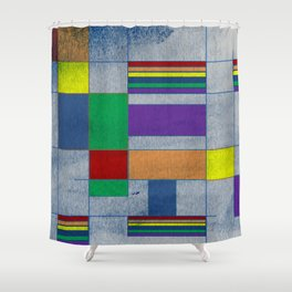 Mid-Century Modern Art - Rainbow Pride 1.0 Shower Curtain