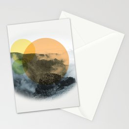 Sunrise on a mountian Stationery Cards