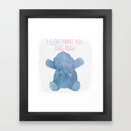 eLOVEphant Framed Art Print