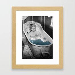 Birdy bath Framed Art Print