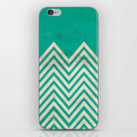 TEXTURED TEAL CHEVRON iPhone & iPod Skin