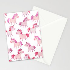 watercolor unicorns Stationery Cards