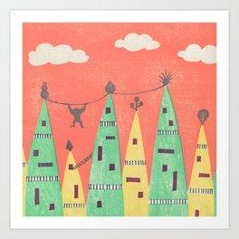 Towers Town Art Print