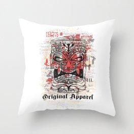 19249d8420b3c Tiki Mask - Original Apparel Throw Pillow