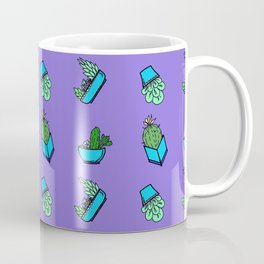 cactus on violet background . Art Coffee Mug