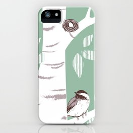 Birch Birds iPhone Case