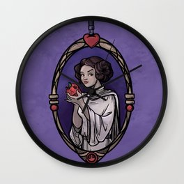 Snow Organa and the Poisoned Death Star Wall Clock