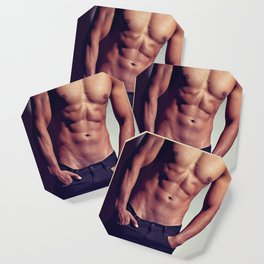 Very sexy man with great body Coaster