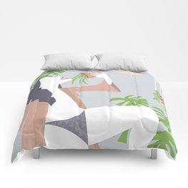 Singing Plant Lady Comforters