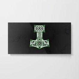 Mjolnir Thor Nordic God product Hammer Vintage Metal Print