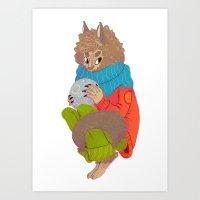 werewolf Art Prints featuring Werewolf by Chicherova Olga