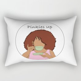 Pinkies Up Rectangular Pillow