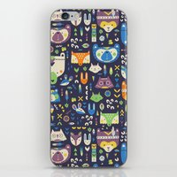 wild things iPhone & iPod Skins featuring Wild Things by Paula McGloin Studio