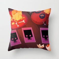 Voodoo table Throw Pillow