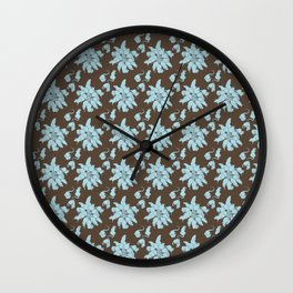 Ratking Flowers [Blue] Wall Clock