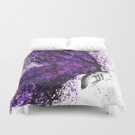 Purple Sky Butterfly Duvet Cover