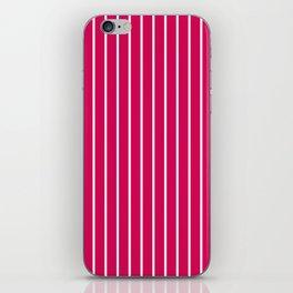 1Red- crimson striped iPhone Skin