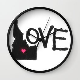 Love, Idaho. Wall Clock