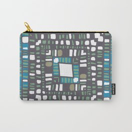 Squared layers in orange and blue Carry-All Pouch