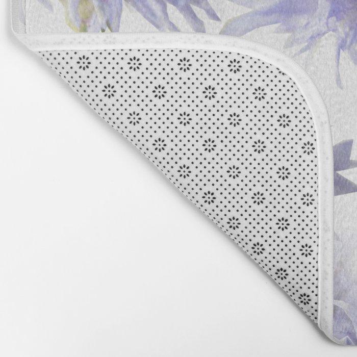 Pale Blue Cornflowers #decor #society6 Bath Mat