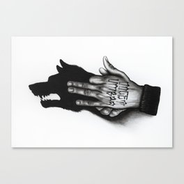 Docet Umbra Canvas Print