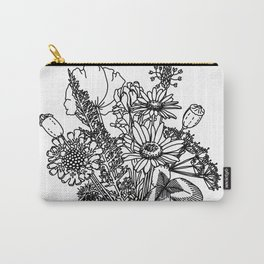Wildflowers in a Vase Carry-All Pouch