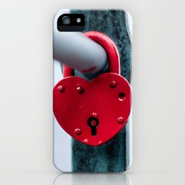 Red Heart Lock iPhone Case