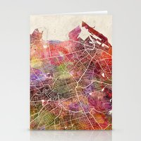 edinburgh Stationery Cards featuring Edinburgh by MapMapMaps.Watercolors
