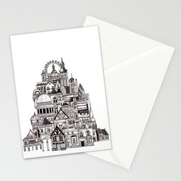 London pencil lines Stationery Cards