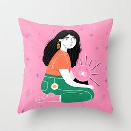 Bruja Throw Pillow