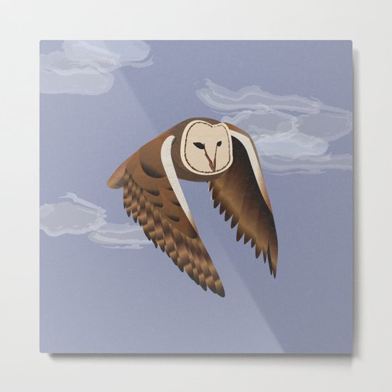 Owl at Dusk Metal Print