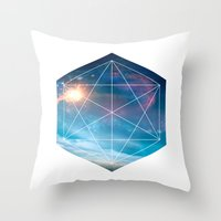 guardians of the galaxy Throw Pillows featuring Galaxy Guardians by GeoDesigned