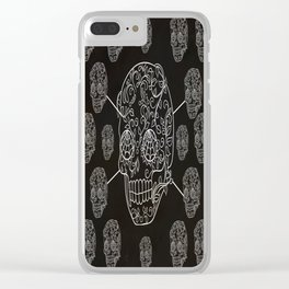 Skull Web Clear iPhone Case