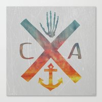 california Canvas Prints featuring California by Last Call