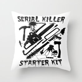 SERIAL KILLER STARTER KIT. Throw Pillow