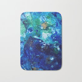 Look Down As The Rain Falls Into The Sea Bath Mat