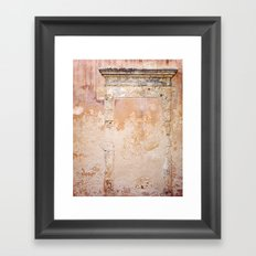 Ancient Marble Doorframe and Plaster, Crete, Greece Framed Art Print