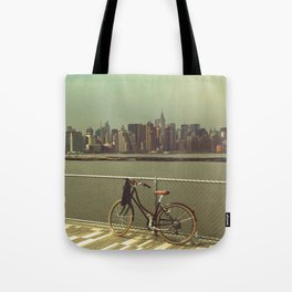 A Green Point Of View Tote Bag