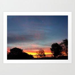 Lurid Dawn: 10.08.15 Art Print
