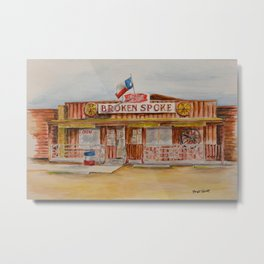 The Broken Spoke - Austin's Legendary Honky-Tonk Watercolor Painting Metal Print