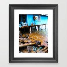 Blue House Framed Art Print