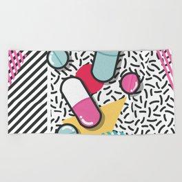 Pills pattern 018 Beach Towel