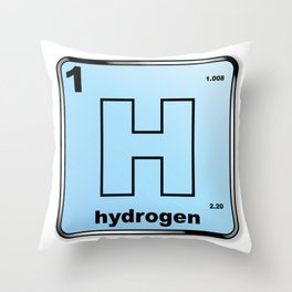 Hydrogen From The Periodic Table Throw Pillow