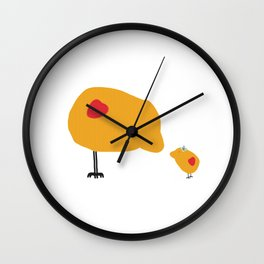 Sunny Family Mom and Girl Wall Clock