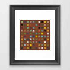 Rustic Wooden Abstract Vll Framed Art Print