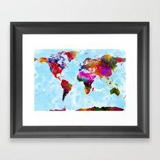 World Map - 3 Framed Art Print
