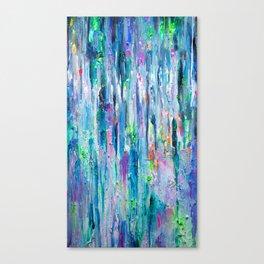 Silver Rain Canvas Print